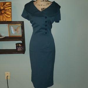 Voodoo Vixen Rachel Housewife Pinup Wiggle Dress